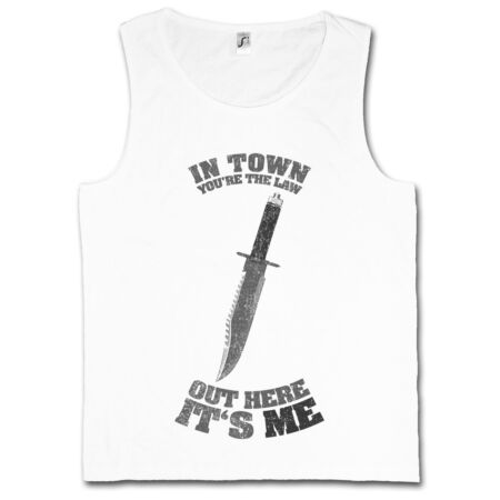 img-IN TOWN YOU'RE THE LAW TANK TOP VEST Rambo out here it's me Knife