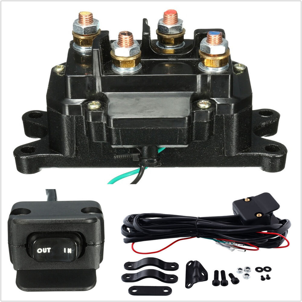 12v Solenoid Relay Contactor  U0026 Winch Rocker Thumb Dash