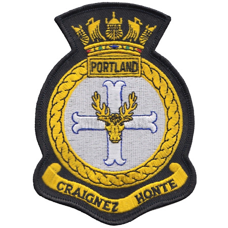 img-HMS Portland Royal Navy RN Surface Fleet Crest MOD Embroidered Patch