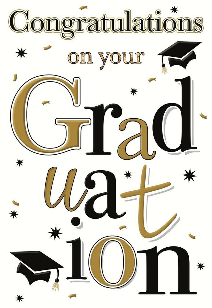 CONGRATULATIONS ON YOUR GRADUATION GREETING CARD ...