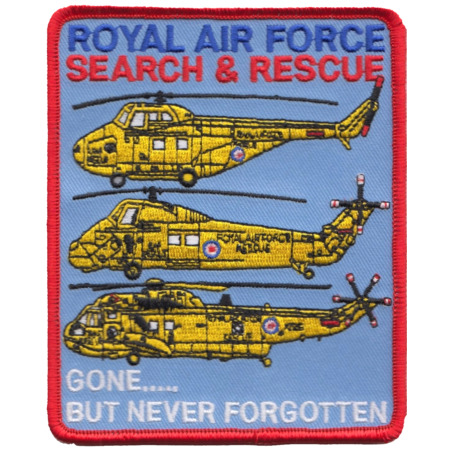 img-Royal Air Force Search & Rescue SAR Gone But Never Forgotten Embroidered Patch