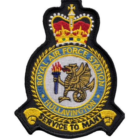 img-RAF Hullavington Royal Air Force MOD Crest Embroidered Patch