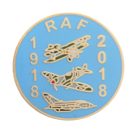 img-Royal Air Force RAF 100 Years 1918 to 2018 Centenary Pin Badge - LAST FEW