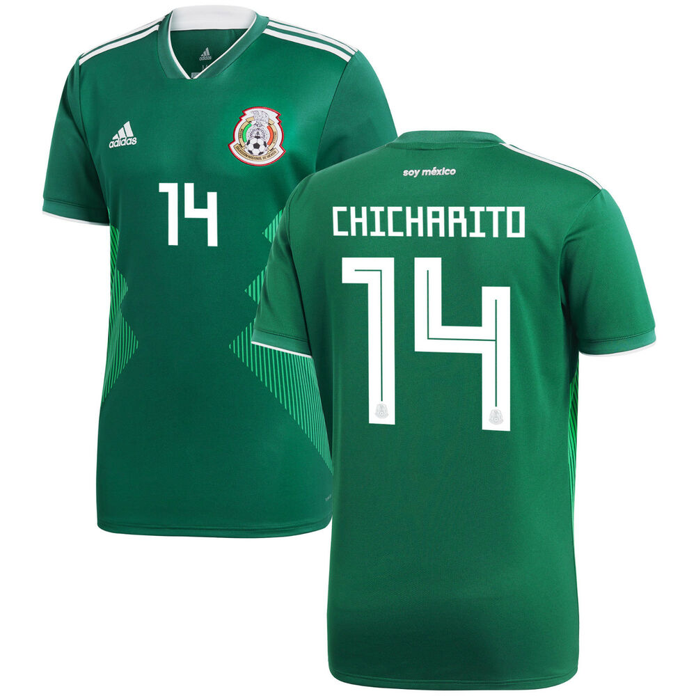 4be119038ac58 Details about adidas Mexico FIFA WC World Cup 2018 Chicharito 14 Home  Soccer Jersey Kids Youth