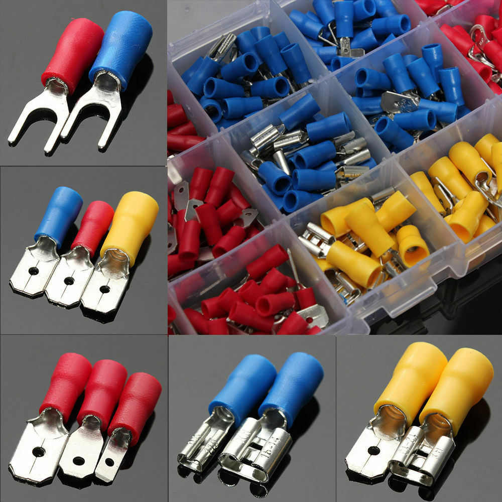 300pcs Assorted Insulated Electrical Wire Cable Terminal