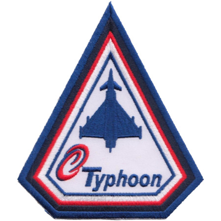 img-Royal Air Force RAF Eurofighter Typhoon & Logo Spearhead Embroidered Patch