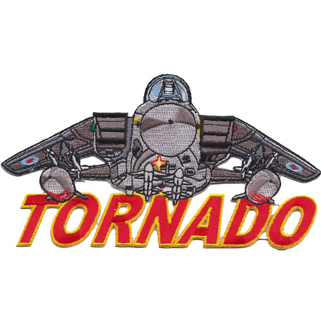 img-Royal Air Force RAF Panavia Tornado Shaped Word Embroidered Patch