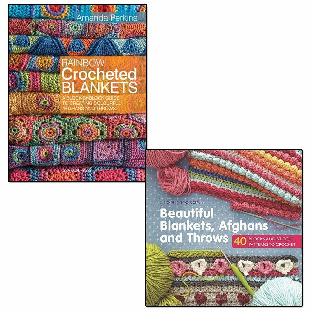 Rainbow Crocheted Blankets Amanda Perkins Collection 2 Books Afghans and  Throws 9789123648948   eBay