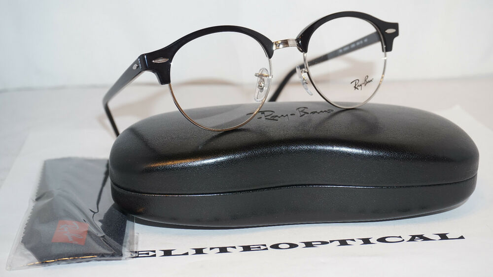 Details about RAY BAN RX Frame Eyeglasses New CLUBROUND OPTICS Black Clear  RX4246V 2000 49 140 9379ca2e172b