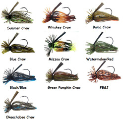 Strike King Tour Grade Finesse Football Jig - Choice of Sizes and Colors