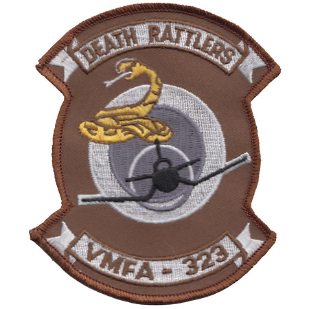 img-Marine Fighter Attack Squadron 323 VMFA-323 USMC Shaped Embroidered Patch