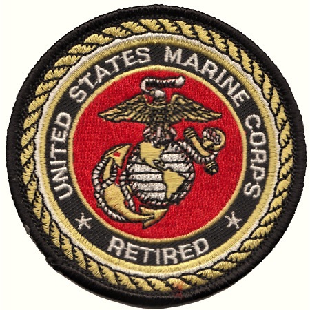 img-United States Marine Corps USMC Retired Embroidered Patch