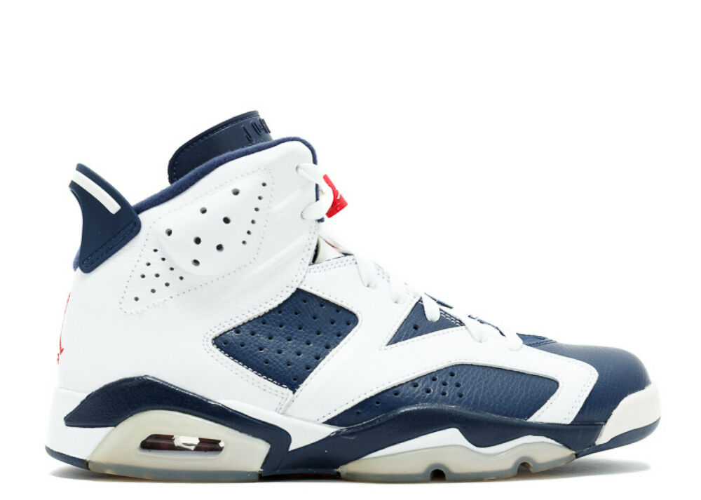 new concept 7994d a1870 Details about 2012 Nike Air Jordan 6 Retro OLYMPIC SZ 15 WHITE NAVY BLUE  RED 384664-130 usa vi