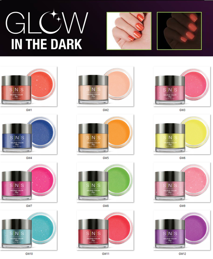 SNS Nail Dip Color Dipping Powder GLOW IN THE DARK GW01 ...