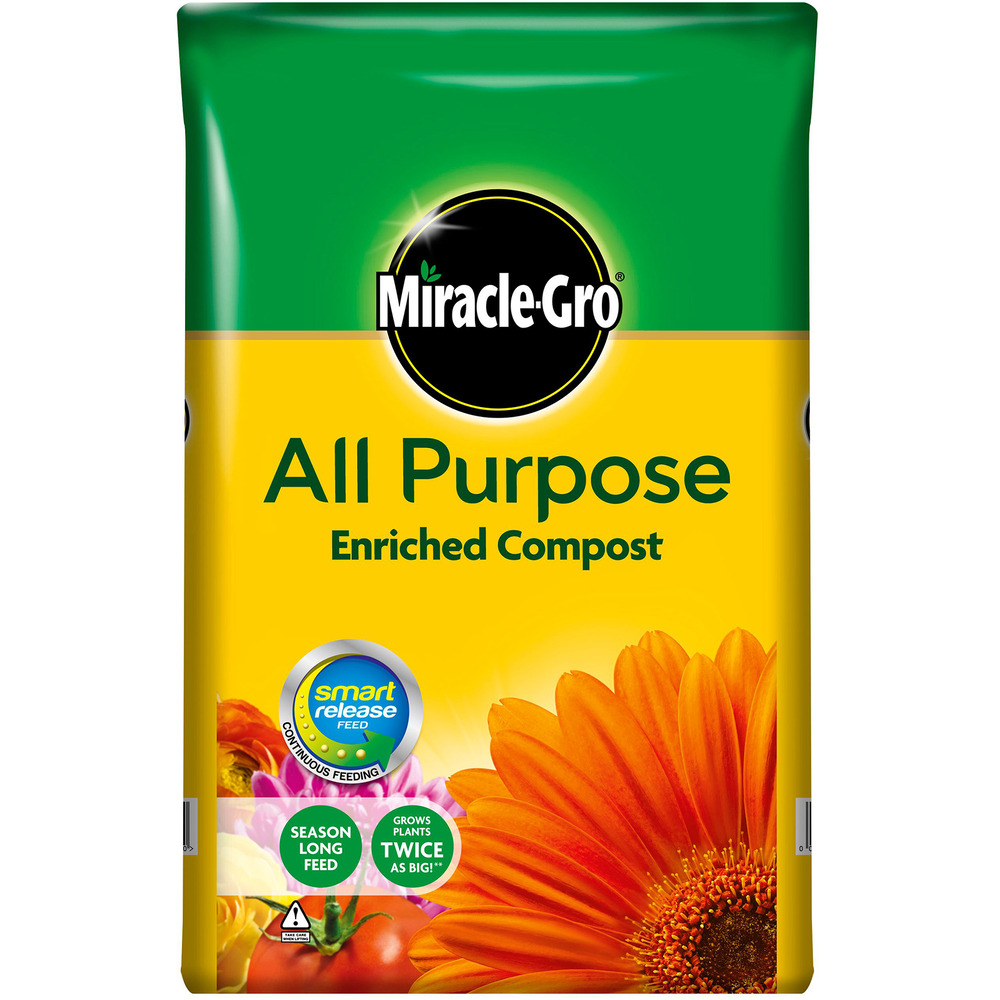 Miracle gro all purpose enriched compost 40l potted plants - Miracle gro all purpose garden soil ...