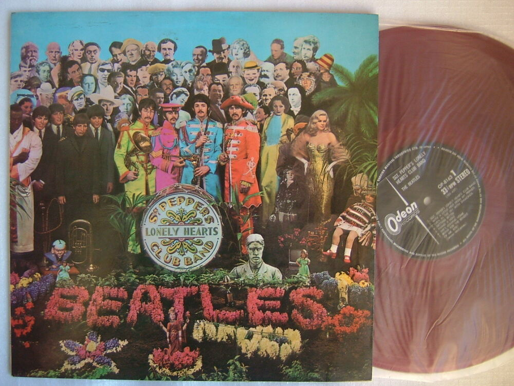 Red Vinyl The Beatles Sgt Pepper S Lonely Hearts Club