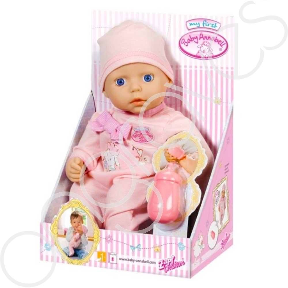 My First Baby Annabell Doll in Pink Outfit & Feed Bottle ...