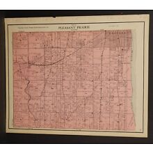 Wisconsin Kenosha County Map Pleasant Prairie Township 1924 L19#92
