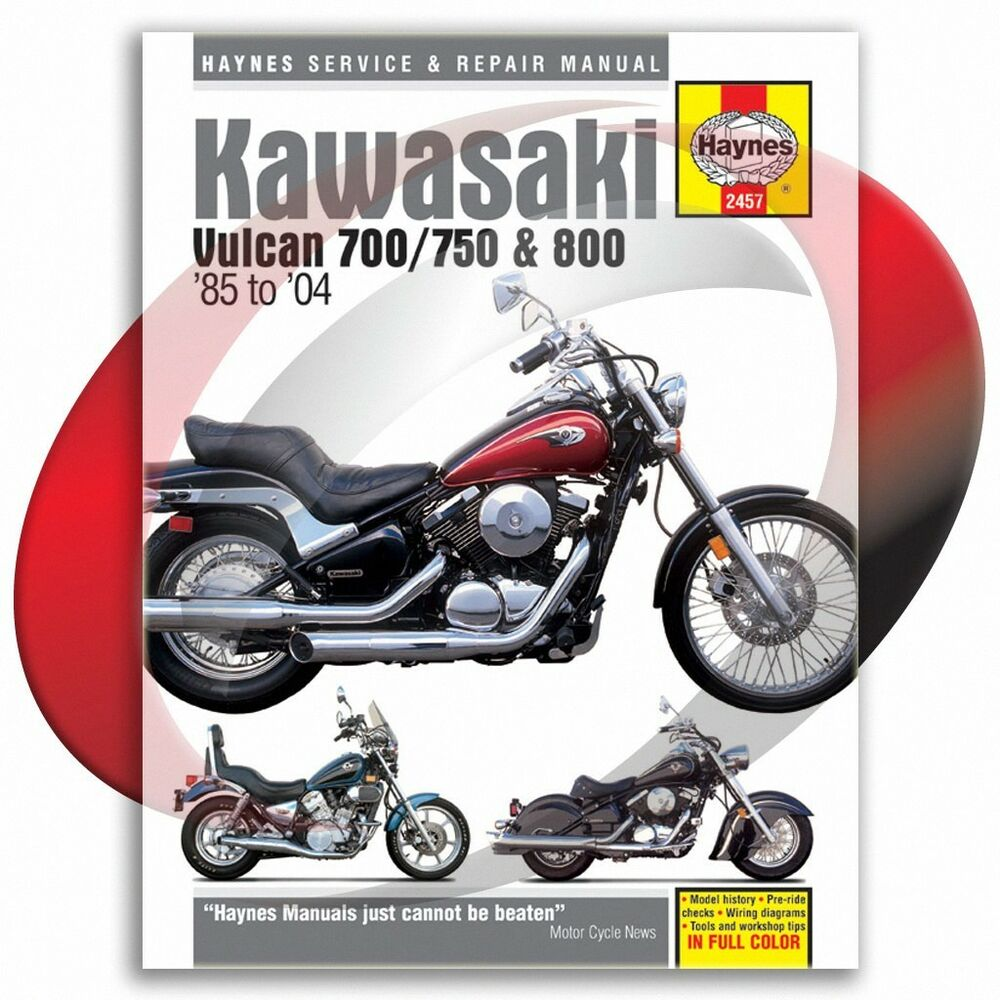 1985-2004 Kawasaki Vulcan 750 Haynes Repair Manual 2457 Shop Service Garage  | eBay