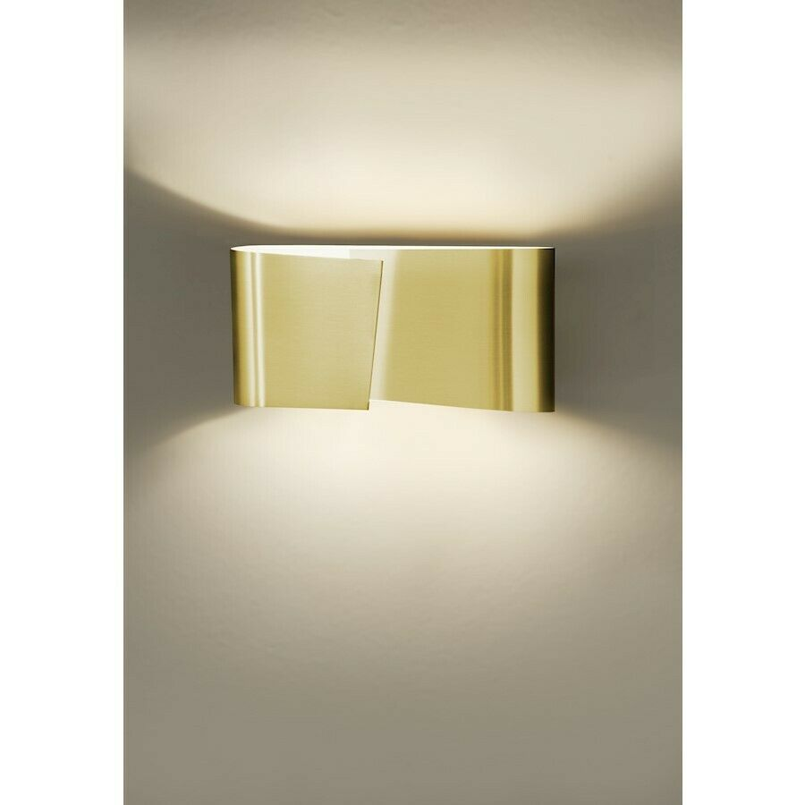 Holtkoetter Filia Small Halogen Wall Sconce Brushed Brass 8531bb