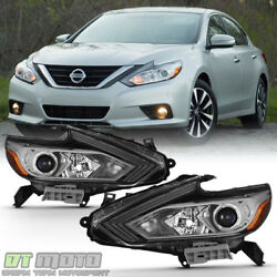 Kyпить For 2016 2017 2018 Altima Headlights Halogen w/out LED DRL Headlamps Left+Right на еВаy.соm