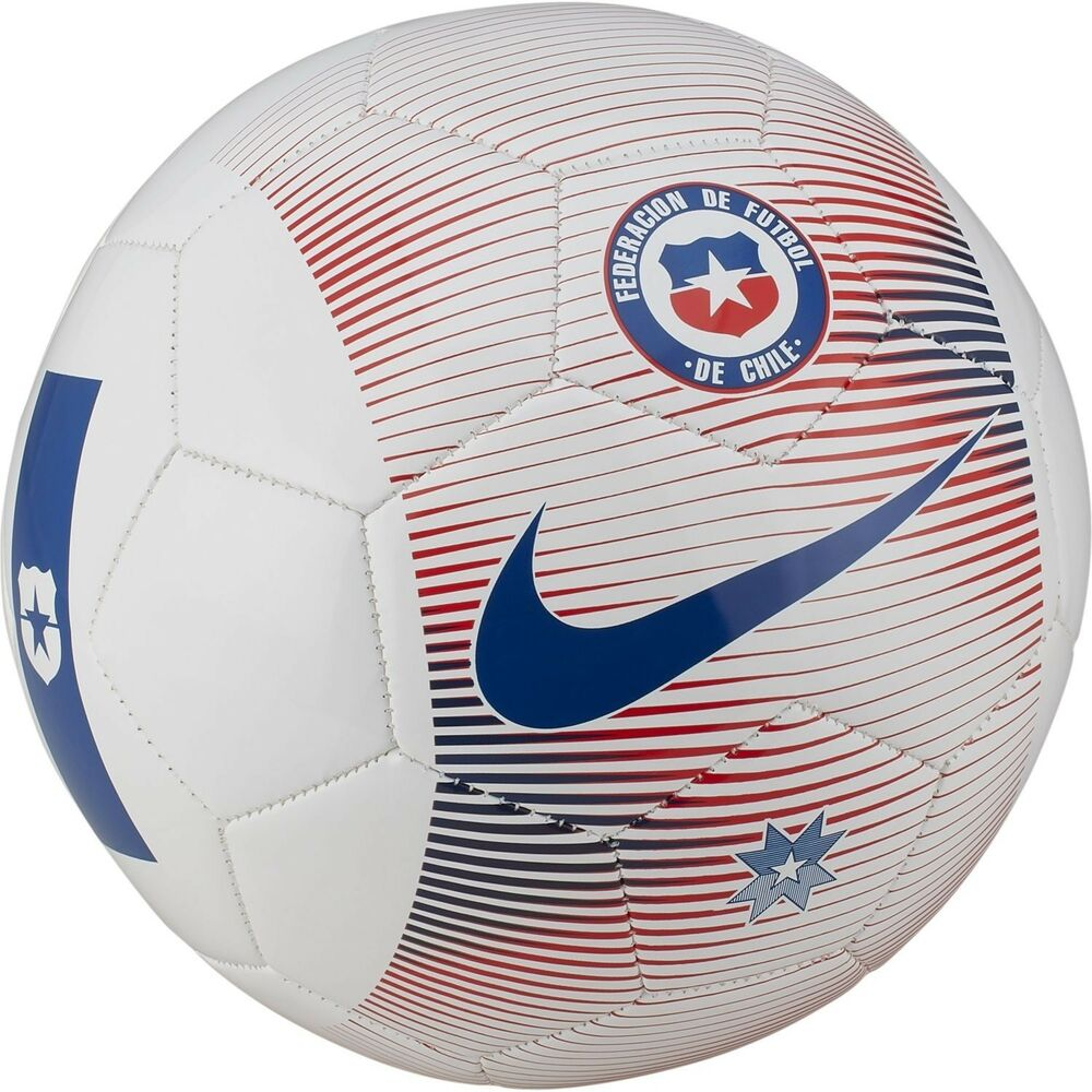 292a2a44ecbe Details about Nike Chile Supporters Season 2018 Fan Soccer Ball White - Red  - Blue Size 4