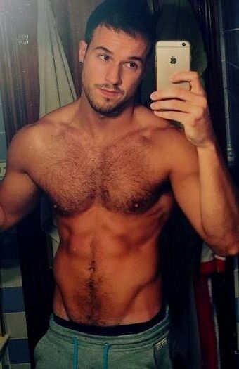 Hairy shirtless studs