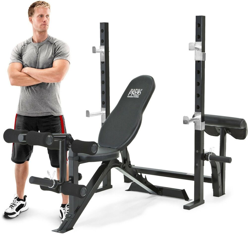 Marcy Pro Pm 842 Olympic Weight Bench With Squat Rack With