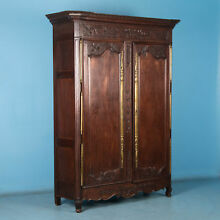 Antique 18th Century Carved French Oak Armoire