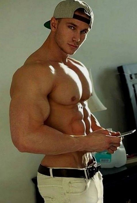 Shirtless Male Beefcake Muscular Huge Biceps Pecs Chest -9609