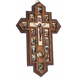 Kyпить Three Layers with Olive Wood Crucifix - icon showing 14 Stations of the Cross... на еВаy.соm