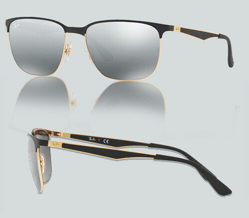 Details about Authentic Ray Ban 0RB3569 187 88 GOLD TOP BLACK Sunglasses 177e2f4b74