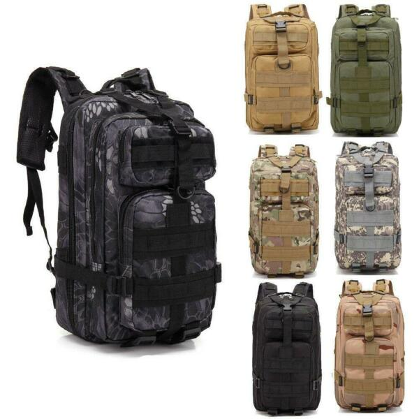 Military Tactical Backpack 30L Outdoor Durable Rucksack Waterproof Camouflage
