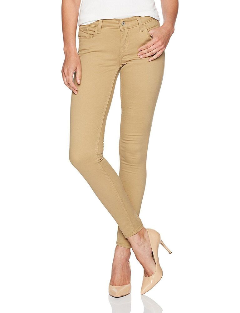 687a5a7e66b Details about Levi s 535 Women s Premium Super Skinny Jeans Leggings  Harvest Gold 119970293