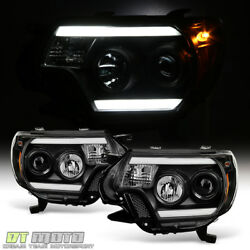 Kyпить For Black 2012-2015 Toyota Tacoma LED OPTIC DRL Tube Projector Headlights 12-15 на еВаy.соm