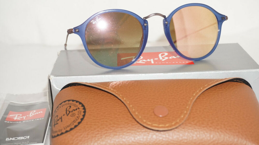 ce6d6cd415 Details about RAY BAN New Sunglasses Blue Copper Gradient Flash RB2447N  625470 49 145
