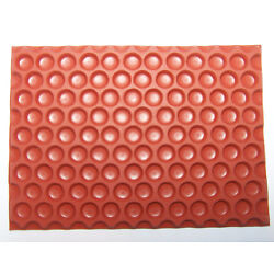 Dot Texture Rubber Stamp Deep Etched Molding Mat for Polymer PMC Paper Clay