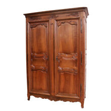 Simple & Elegant Antique French Normandy Armoire, 18th Century, Walnut