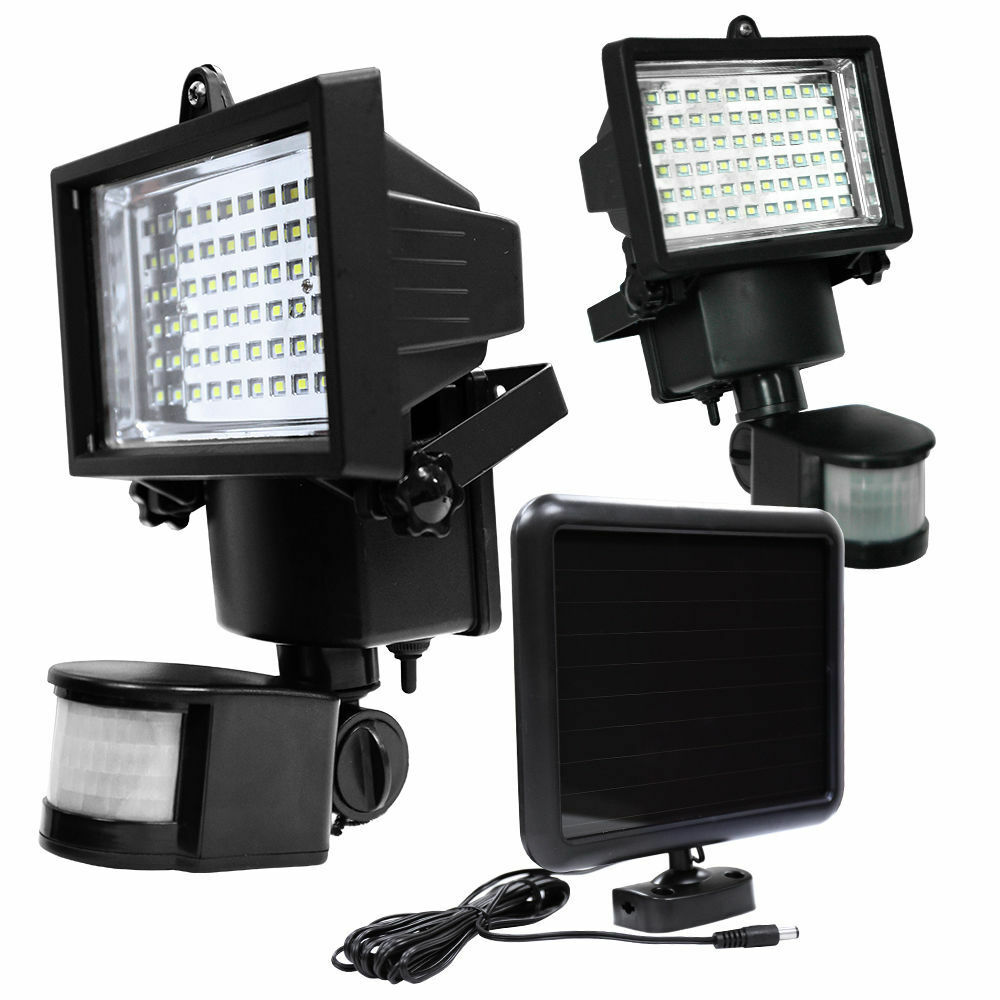 LED Solar Powered Motion Sensor Security Flood Light ...