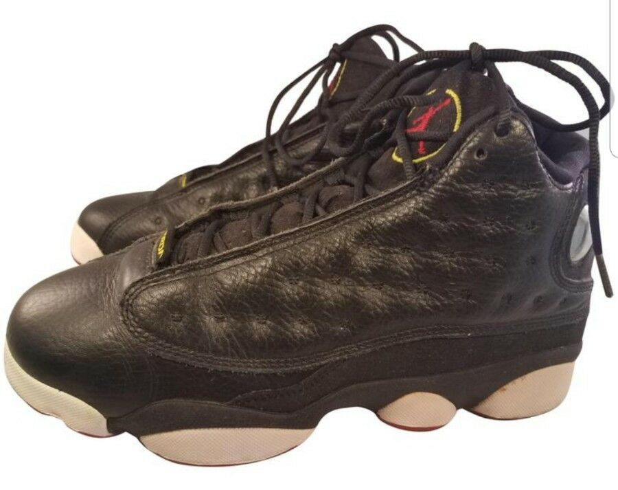 quality design d30cc 6bb64 Details about AIR JORDAN 13 XIII YOUTH BOYS SHOES SNEAKERS 414574-002 BLACK  LEATHER SIZE 6.5Y