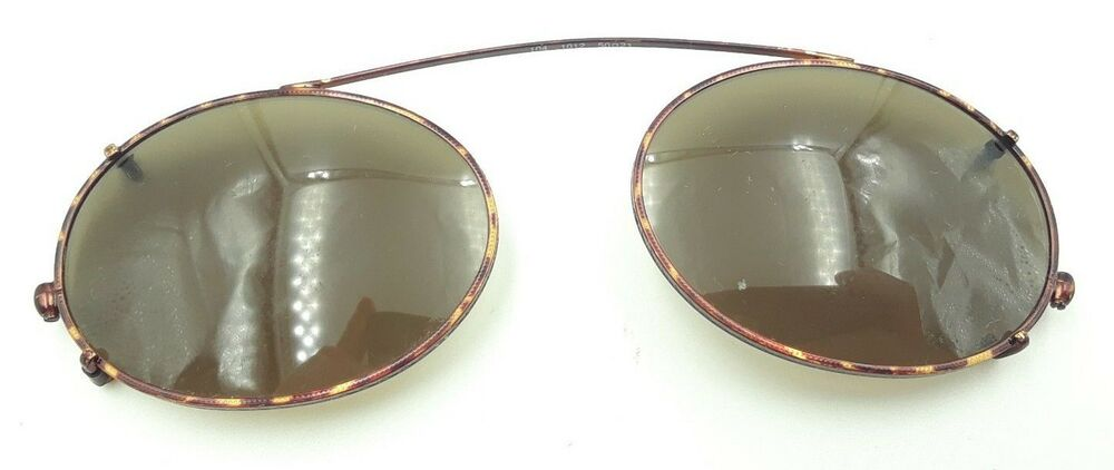 cf3833b01431 Details about Vintage Brooks Brothers 104 1012 Tortoise Oval Clips Clip on  Sunglasses Frames