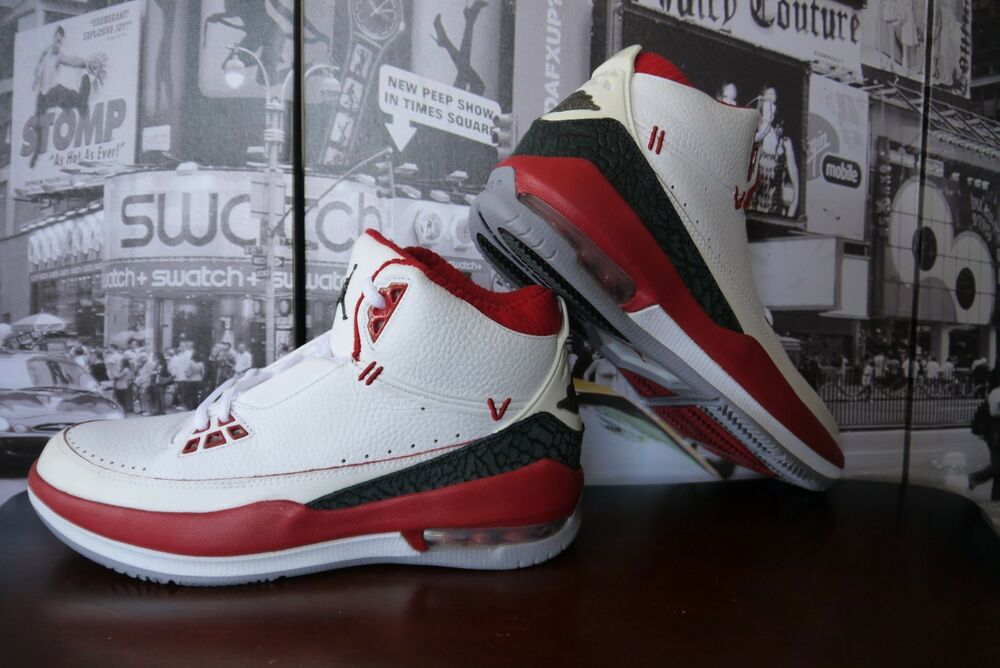 49c433dad5b8 Details about 2008 Air Jordan 2.5 Team white Red black cement 331987-103  Men s US 9   42.5