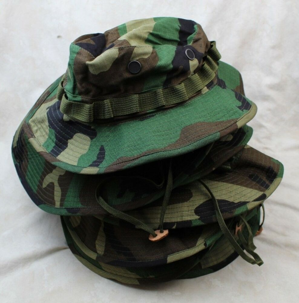 1 DZ LOT GENUINE US ARMY BOONIE HAT SUN WOODLAND CAMO TYPE-III RIPSTOP SZ 6  3  4 Unique Christmas Gifts e2bda2fd3467