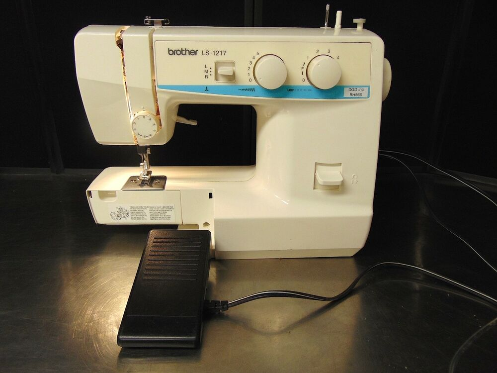 Brother LS40 Free Arm Sewing Machine With Foot Pedal Power Cord Simple Sewing Machine Brother Ls 1217