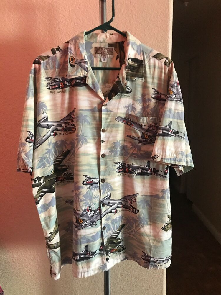 77156a48 Details about Kalaheo Men's Hawaiian Short Sleeve Shirt WWII Bomber  Airplanes Size XL Box P