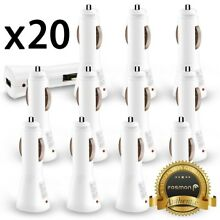 20x Wholesale Lot Car Charger USB Adapter Galaxy Note 8 S8 iPhone 8 7 Plus X LG