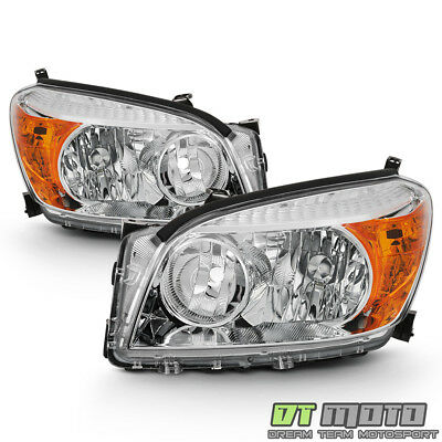 For 2006 2007 2008 Toyota RAV4 Headlights Headlamps Replacement 06-08 Left+Right