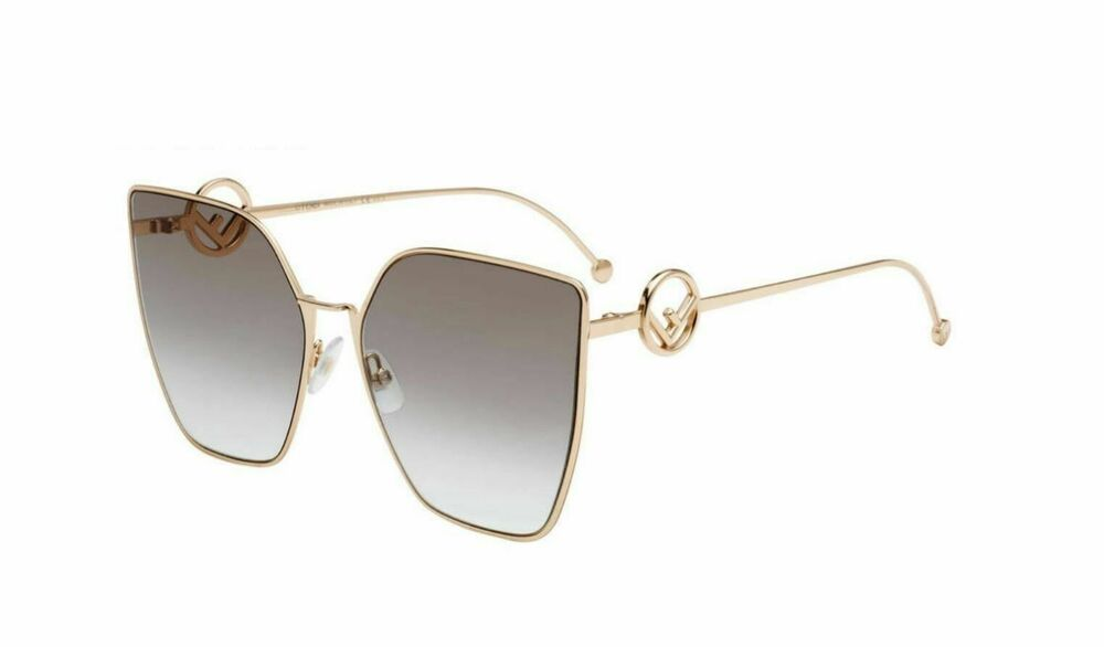 8280ca0ec0f Details about Authentic Fendi FF 0323 S DDB 86 Gold Copper Sunglasses