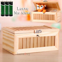 Kyпить Useless Box Leave Me Alone Box Wooden Most Machine Don't Touch Tiger Toy Gift на еВаy.соm