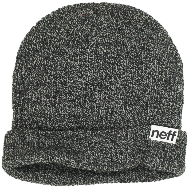 fab8729853b Details about New with out Tags NEFF Fold Heather Beanie Black White